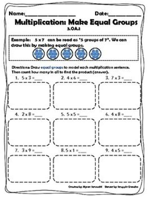 multiplication strategies make equal groups worksheet