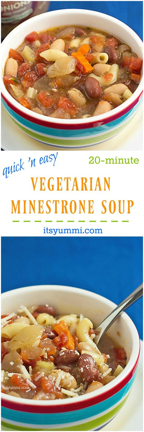 meatless soup recipes easy vegetarian minestrone soup its yummi