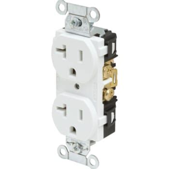 commercial grade white 20a 120v outlet hd supply