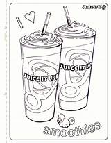 Coloring Juice Smoothie Sheets Smoothies Fun Colouring Printable Alcohol Getcolorings Colorear Pa Heart Colorings Healthy sketch template