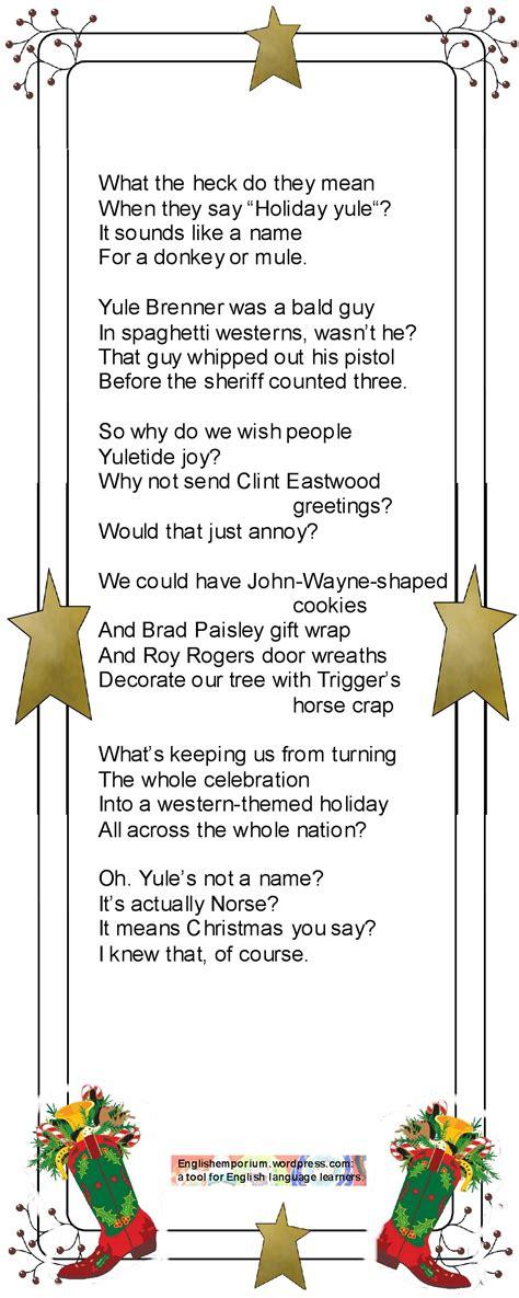 silly santa funny christmas poem