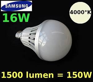Led E27 150w : e27 lampada a mezzo bulbo 8cm con led samsung 16w equivalenti a 150w con attacco a vite ~ Eleganceandgraceweddings.com Haus und Dekorationen