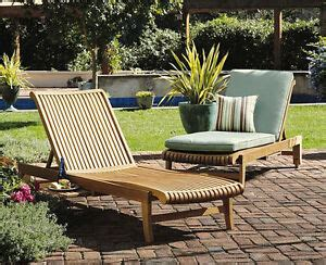 steamer chaise sun lounger teak garden outdoor patio