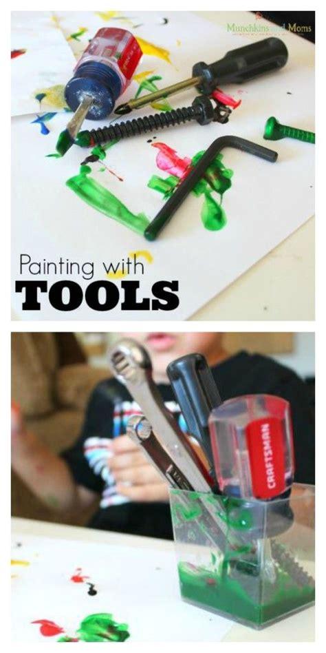painting with tools munchkins and preschool 681 | fb615879aa2f7438ef6f2b6734add81f