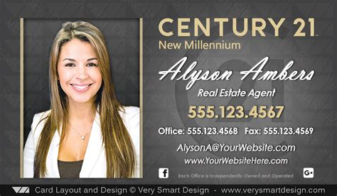 custom century  business card templates