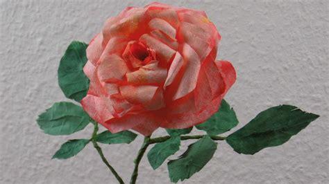 Blumen Basteln Romantische Rosenblüten Aus Kaffeefilter