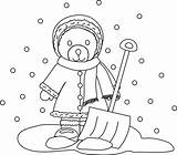 Shovel Snow Coloring Template Sketch sketch template
