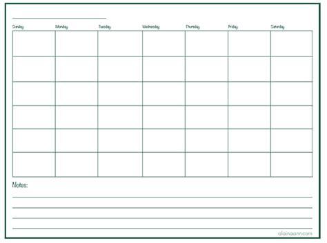 monthly calendar  lines