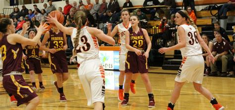 federal hocking lady lancers obliterate trimble lady