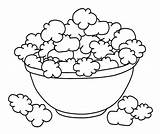 Popcorn Coloring Pages Bowl Shopkins Printable Corn Box Drawing Cookie Template Poppy Colouring Dough Sheet Sketch Ocoloring Draw Mixing Sheets sketch template