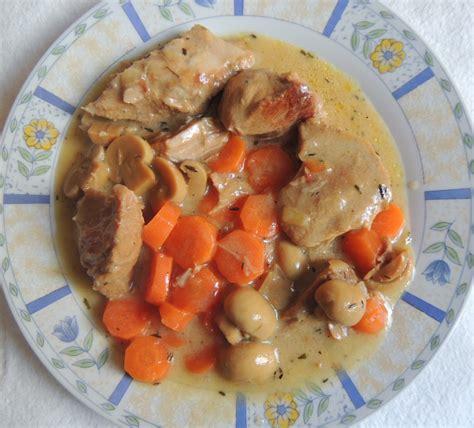 recette minceur blanquette de veau aux chignons