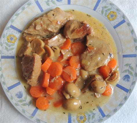 recette de cuisine pour maigrir recette minceur blanquette de veau aux chignons