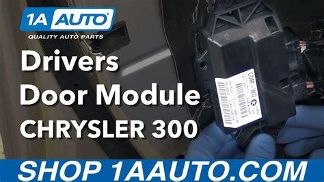 replace drivers door module   chrysler