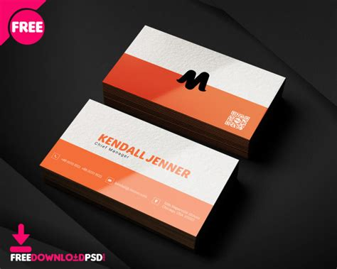 professional business card template freedownloadpsdcom