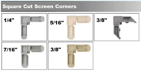 screen frame corners screen corner keys window screen parts  types  sizes truth