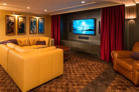 Art Deco Entertaining-modern-home Theater