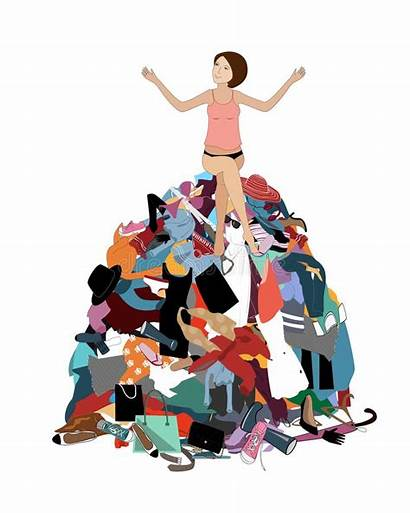 Pile Closet Clipart Clothes Messy Laundry Nothing