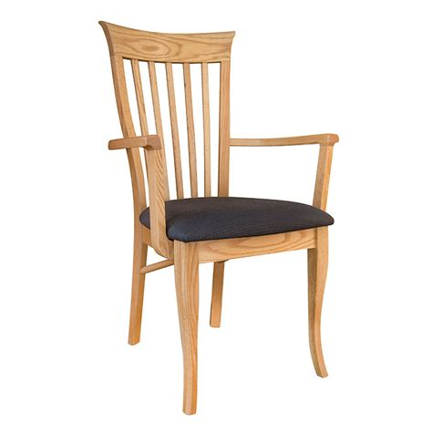 oak dining chairs with arms clearance classic shaker oak dining chair made in vt 7127