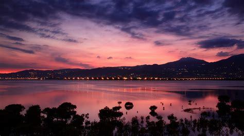 Mountain, Sunrise, Taiwan, Water, Clouds, Landscape