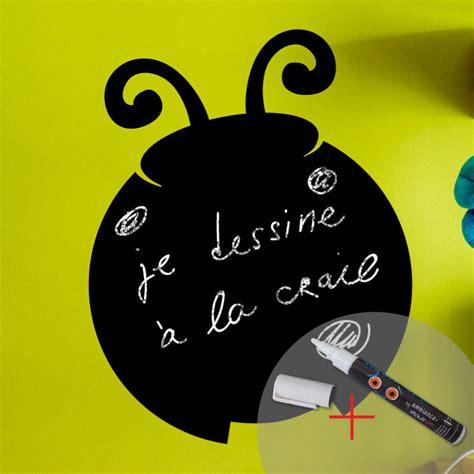 la coccinelle du label ip sticker ardoise coccinelle craie liquide blanc