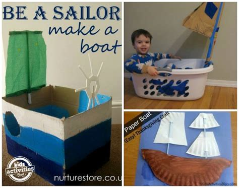 18 boat crafts for to make activities 100 | boats for kids to make
