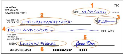 How To Write A Check - Step-by-Step Explanation