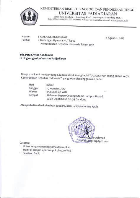 undangan upacara hut   kemerdekaan republik indonesia