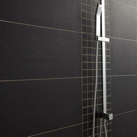 carrelage cuisine noir carrelage sol et mur noir vesuvio l 30 x l 60 cm leroy