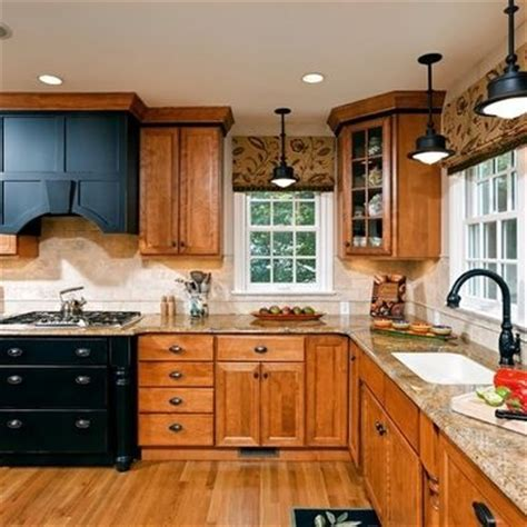 kitchen cabinets pictures gallery wood floor with oak cabinets with black accents thoughts 6321
