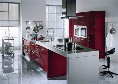 Red Kitchen Cabinets Ikea