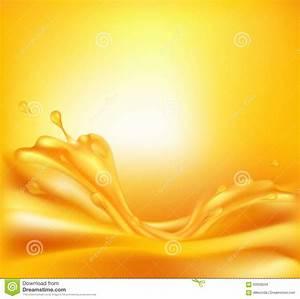 Juicy Orange Background With Splashes Of Juice Stock ...