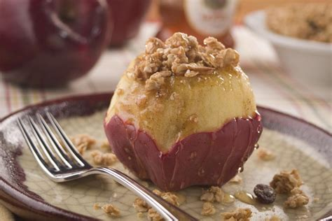 stuffed apples microwave stuffed quot baked quot apples mrfood com
