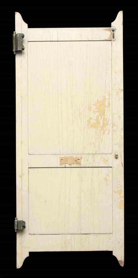 wooden  panel bathroom stall door olde good