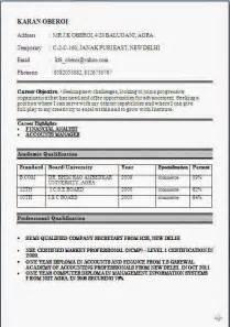 best resume format for freshers bcom fresher resume format