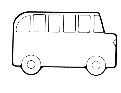 bus coloring pages getcoloringpagescom