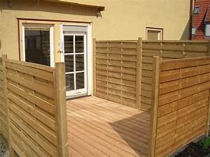Terrasse mit sichtschutz holzbau breckel for Sichtschutz terrasse