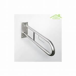 Barre Acier Rond Plein : barre d 39 appui relevable en forme u help en acier bross ~ Dailycaller-alerts.com Idées de Décoration