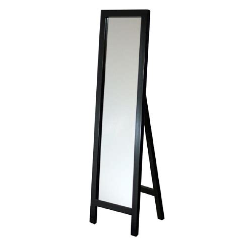 floor mirror easel deco mirror 18 in x 64 in single easel floor mirror in espresso 8807 the home depot