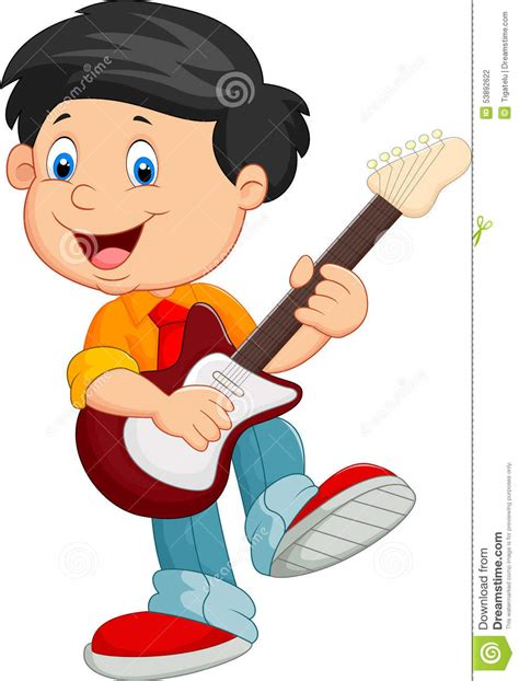 playing cartoon children playing guitar clipart clipartxtras