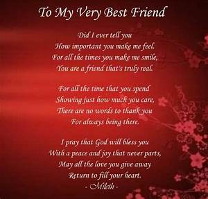 My Best Friend Poems Friendship | To my very best friend ...