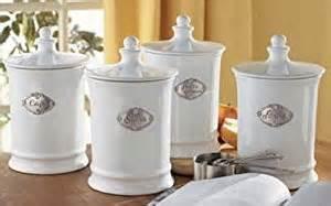 white kitchen canister set amazon com white and pewter kitchen canister set food canisters