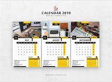 Free 13 Pages 2019 Calendar Design Templates Graphic