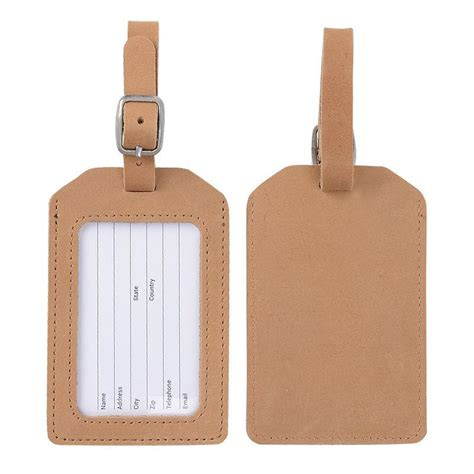 bag tag 2018 genuine leather luggage tag brown color for travel business suicase tag bag tags with name
