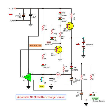 automatic nimh battery charger circuit cutoff when