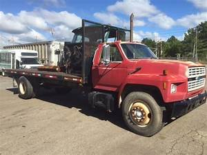 1993 Ford F700 21 U0026 39  Flatbed For Sale
