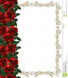 Red Rose Wedding Invitation Borders Free