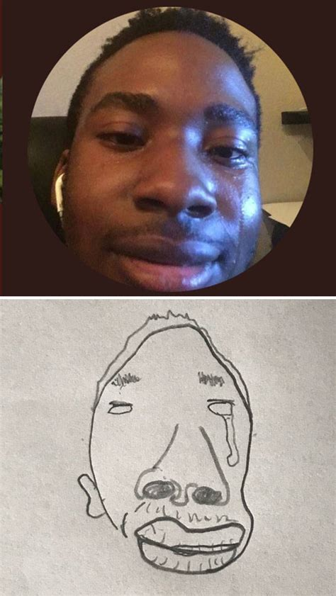 guy  drawing peoples twitter profile pics
