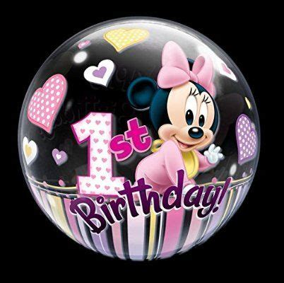 Happy 1st Birthday Minnie Mouse balloons (22in) in 2019