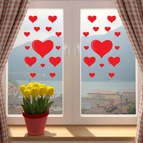 valentines love hearts shop window sticker wall vinyl decal transfer decorations ebay