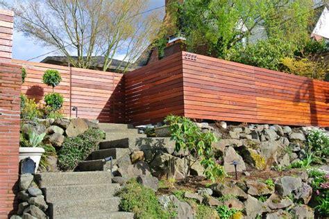 horizontal wood fence  impact  landscape